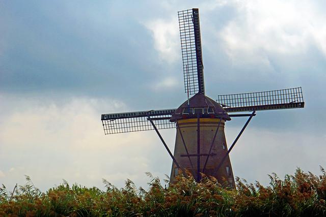 Netherlands-4736 - Nederwaard Windmill