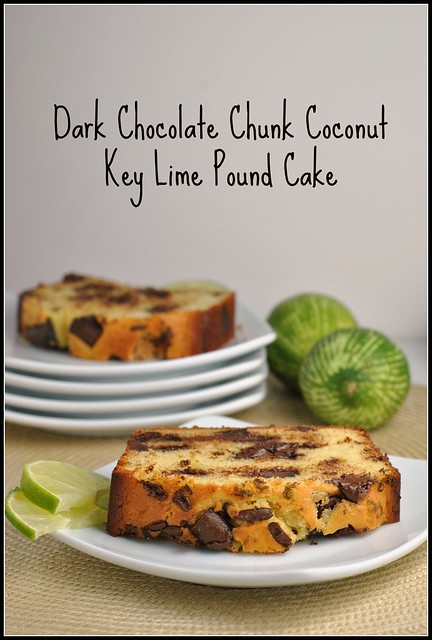Dark Chocolate Chunk Coconut Key Lime Pound Cake 1
