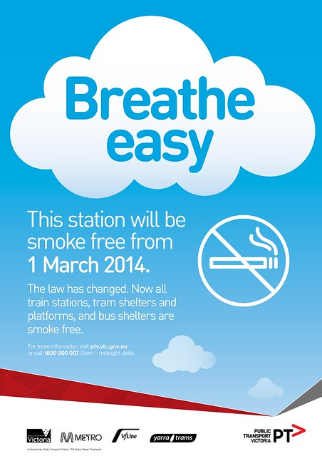 Smoke Free poster for railway stations