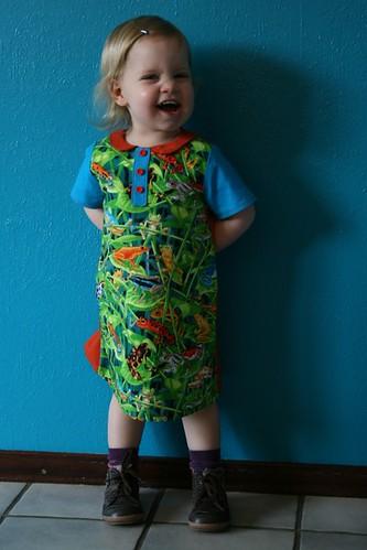 Kikker kleedje voor Nina