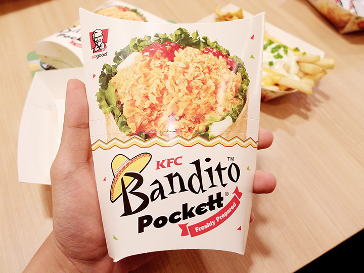 KFC Bandito Pockett packaging