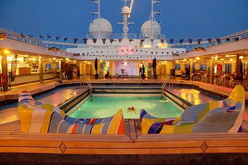 cruise sunset party sun pool set night table december ship chairs time top sony dream deck thomson caribbean guest alpha fest a77 2013