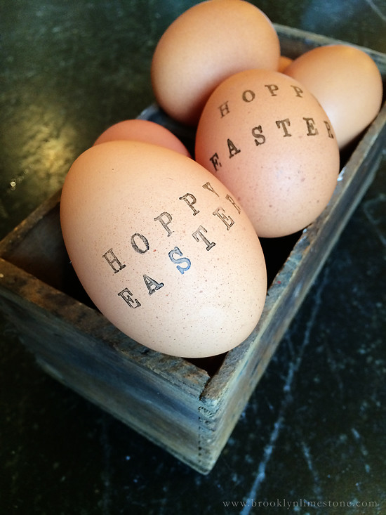 rubber stamp easter eggs