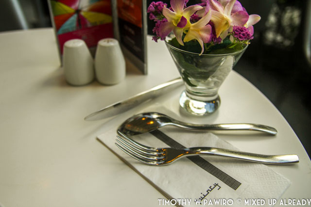 Asia - Singapore - Quincy Hotel - The restaurant - The cutlery