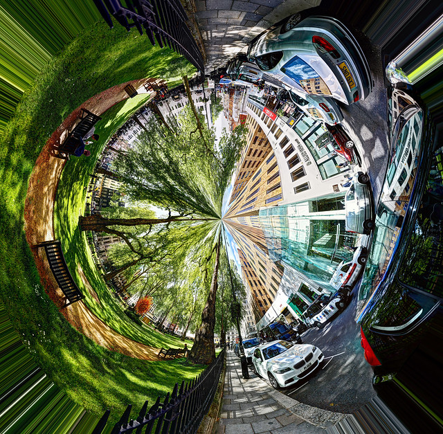 Inverted Polar Panorama in Berkeley Square