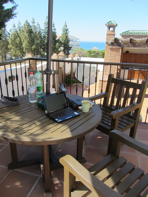Writing in southern Spain