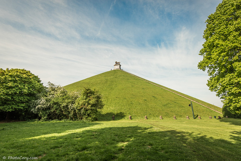 the Lion's Mound in Waterloo, Belgium