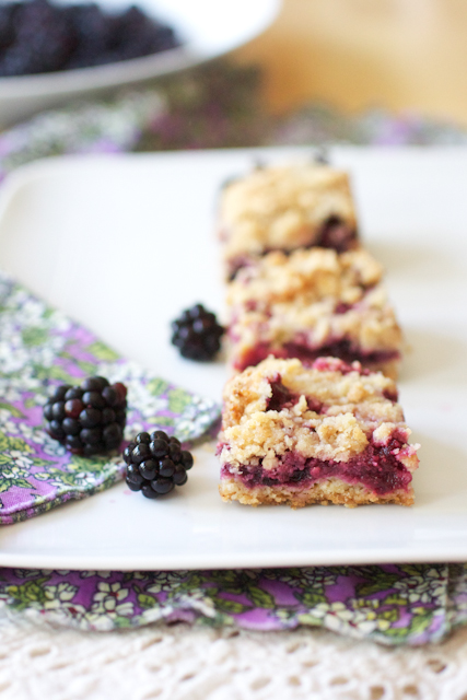 blackberry lime crumb bars