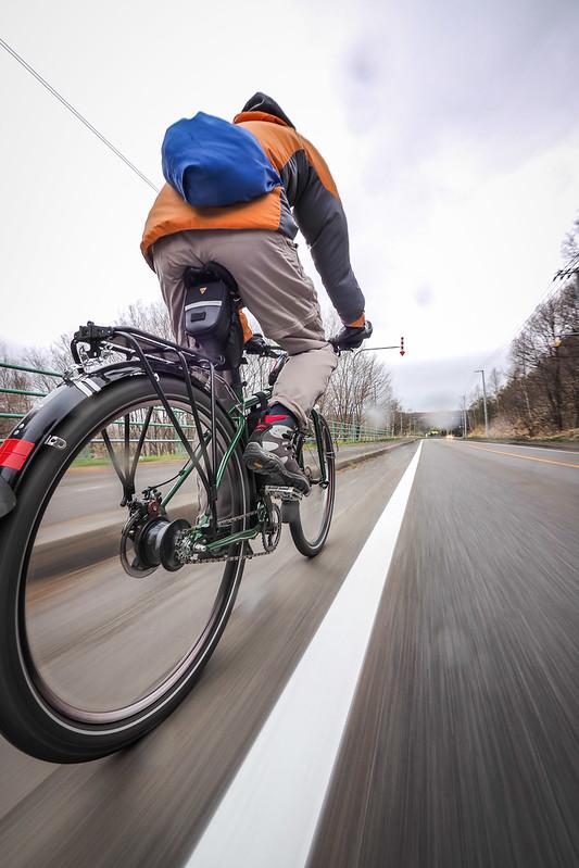 Biking in Abira, Hokkaido, Japan