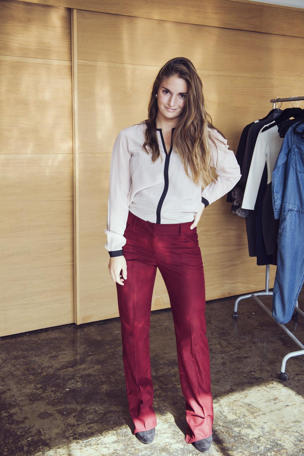 iris setlakwe, audrey, audrey andrade garcia, pantalon rouge, red pant, look, lookbook, lecahier