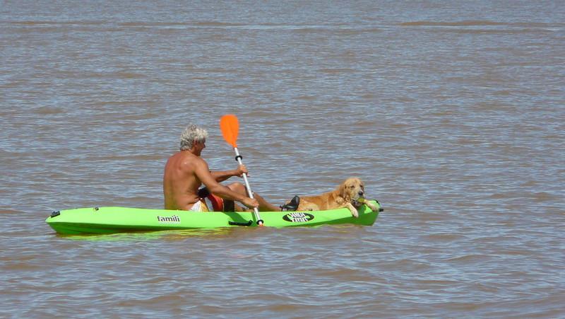 des kayakistes