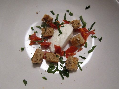 Greek Yoghurt, Croutons, Chorizo, Parsley