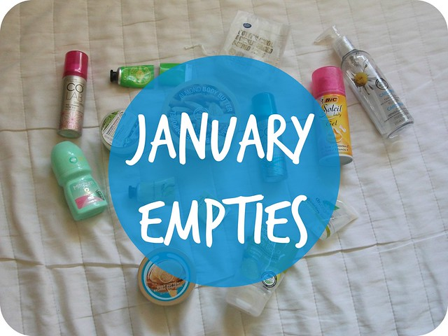 Beauty Empties January 2015 Bbloggers