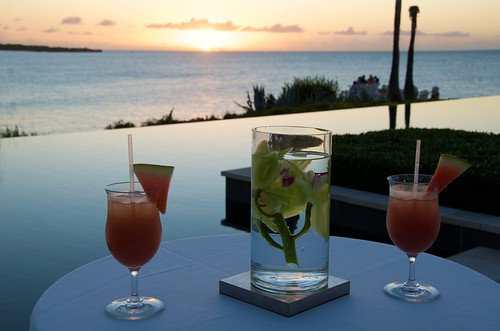 Anguilla Trip - Jan 2015 - Sunset and Drinks