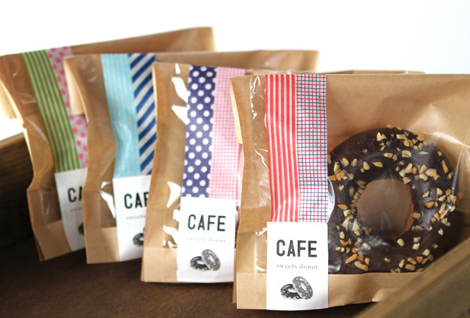 washi tape food gift wrap