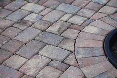 sidewalk, flagstone, cobblestone, road surface, brick, brickwork,