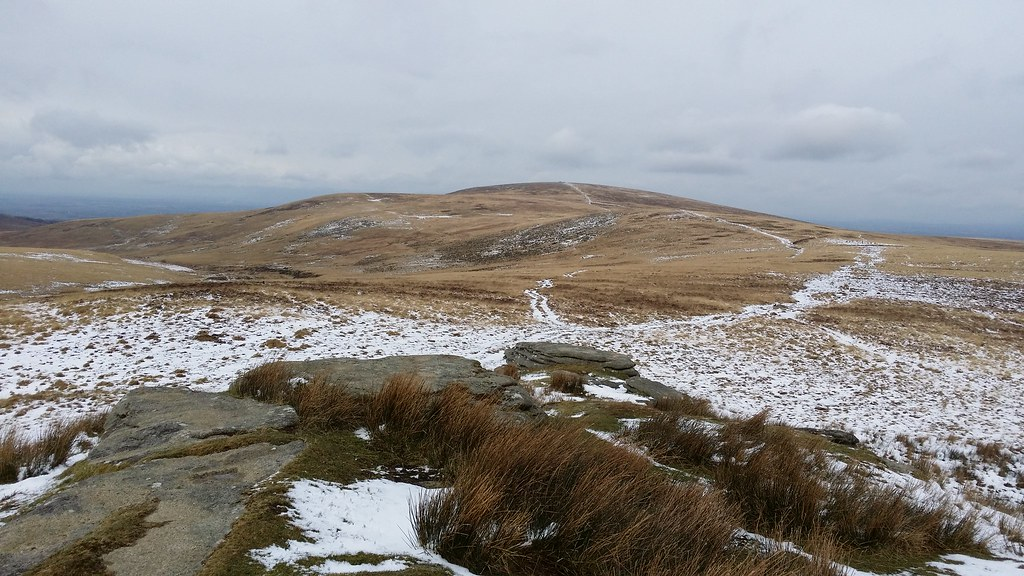 On Hound Tor looking to Cosdon Beacon #SH