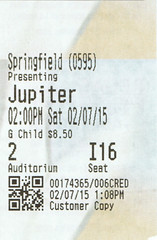Jupiter Ascending ticketstub