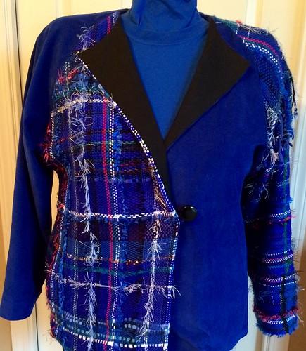 Jacket from blue Saori warp