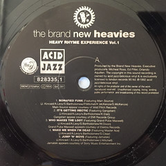 THE BRAND NEW HEAVIES:HEAVY RHYME EXPERIENCE VOL.1(LABEL SIDE-A)