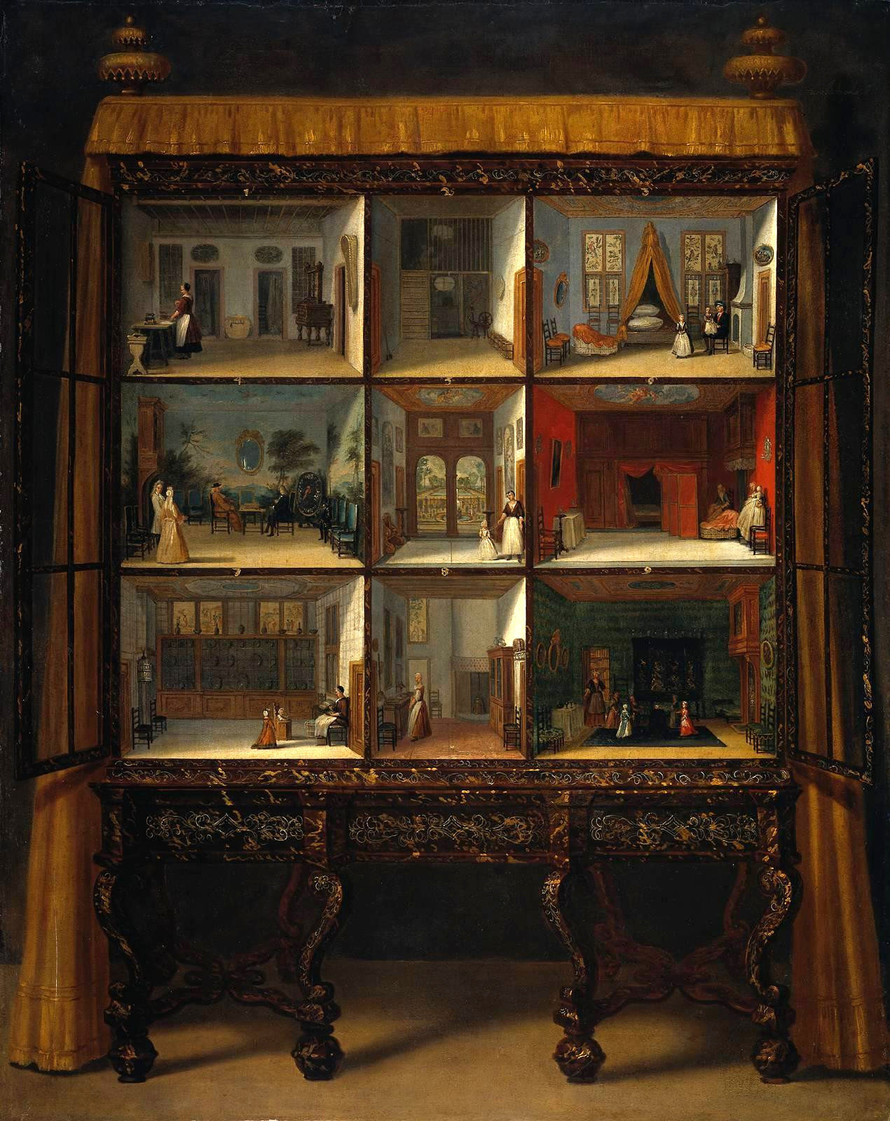 Dollhouse of Petronella Ortman by Jacob Appel, c. 1710