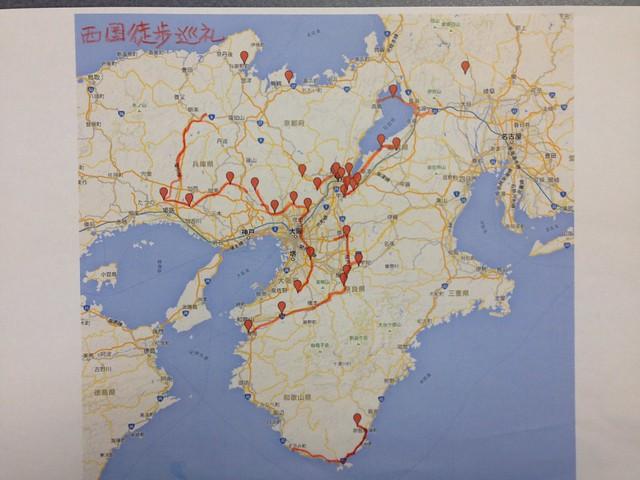 西国徒歩巡礼地図