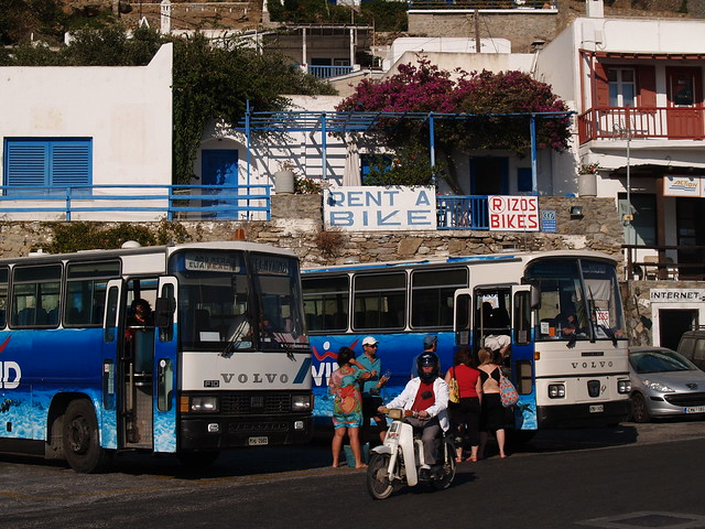 Transportation choices, Mykonos, Greece