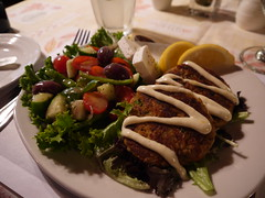 Crab Cakes with Greek Salad