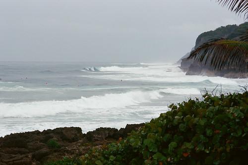 nikonfm2n beach waves surfer puertorico nikon105mmf25ais kodakektar100 seacscape