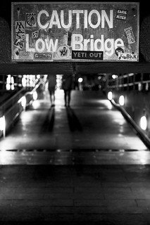 caution low bridge
