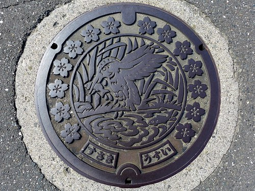 susaki kochi japan manhole bird flower fish