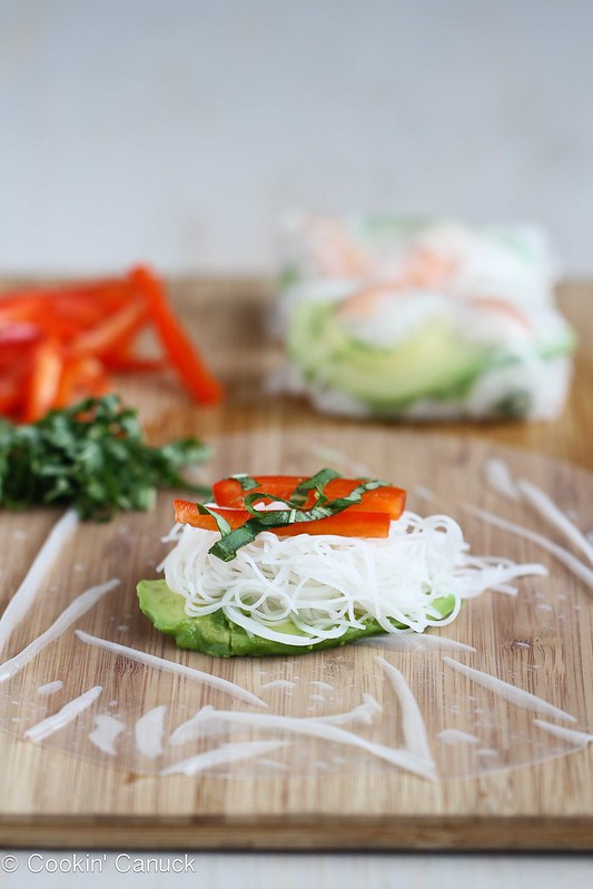 Cookin Canuck Shrimp Avocado Amp Rice Noodle Spring