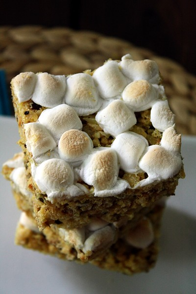 Curried Coconut and Pepita Rice Krispie Treats