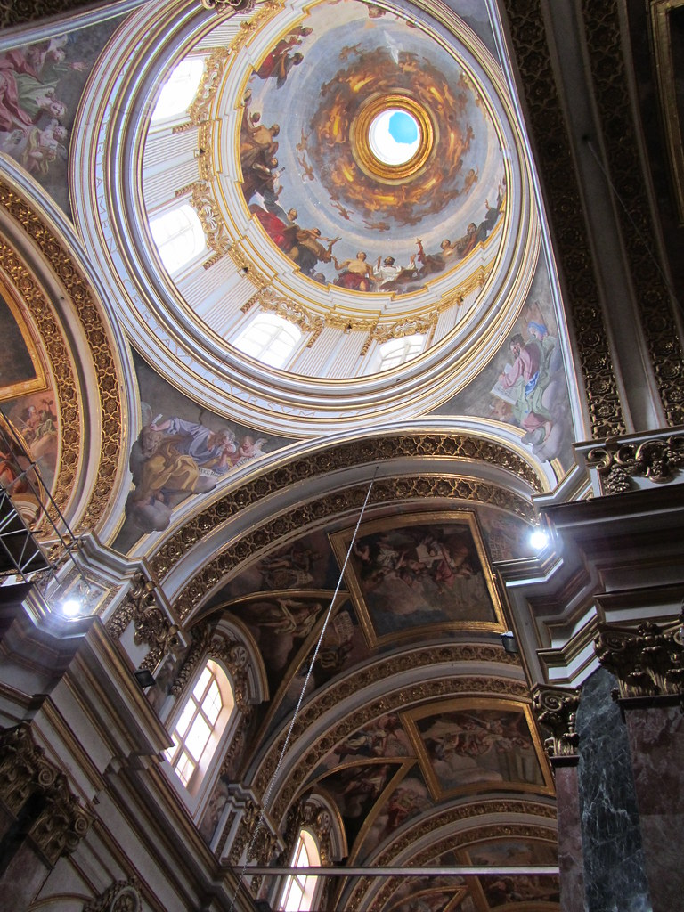 Malta - Mdina - St Paul's Cathedral - Ceiling