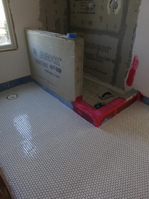 Bathroom Floor Underlayment : Bathroom floor underlayment part diy sarah craft