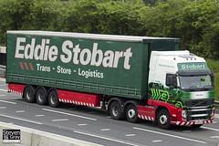 Volvo FH 6x2 Tractor - PX60 CVH - Ellis Olivia - Eddie Stobart - M1 J10 Luton - Steven Gray - IMG_0074