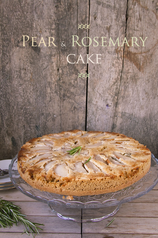 Pear and rosemary cake