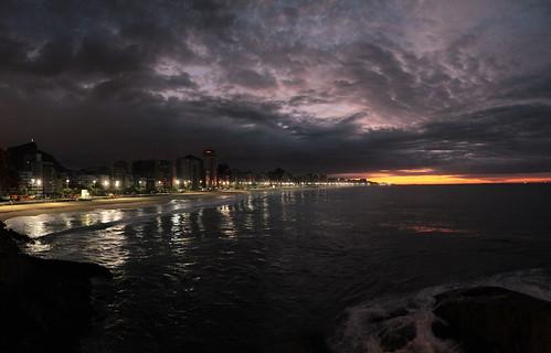 Rio by night-Ipanema beach