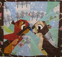 Disney Mystery Quilt, Block 4, The Squirrels