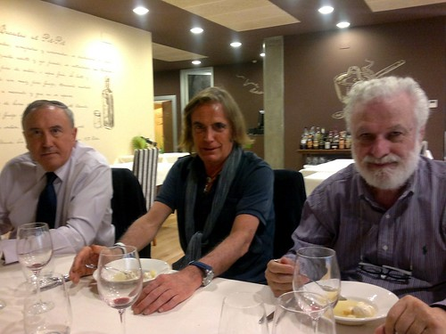 Mikel Agirregabiria, Javier Bolinaga y Francesco Tonucci