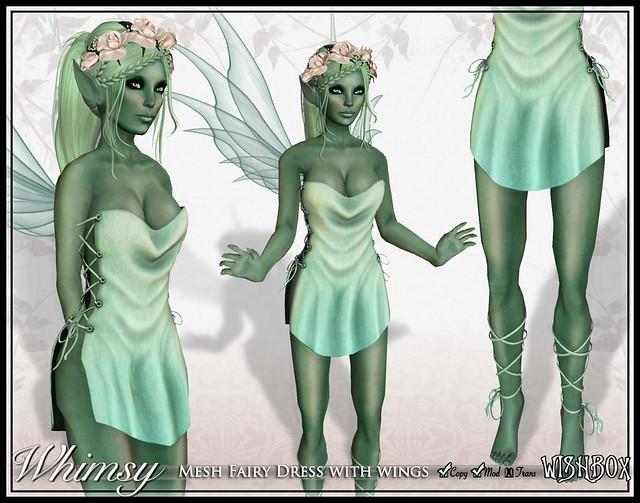Whimsy Mesh Fairy (Seafoam)
