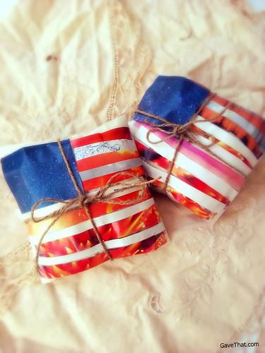 Forth of July DIY Gift Wrap Idea