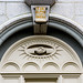 Small photo of Detail of the Salt Lake City Temple - Alpha and Omega