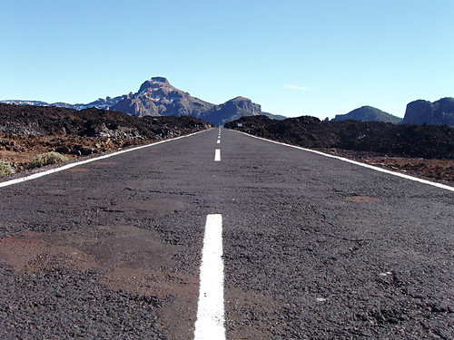 Road through Teide National Park