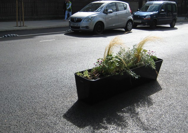 Planter and car parking