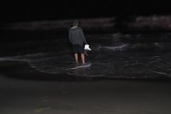 walking toward ocean