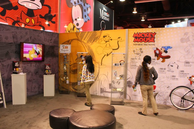 2013 D23 Expo Disney convention show floor