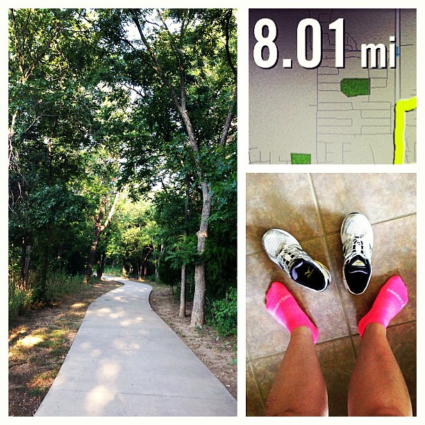 New laces, new socks and my favorite route... all were great.  The weather was perfect and it made me so ready for fall! #motherrunner #mizunorunning #marathontraining #halfmarathontraining