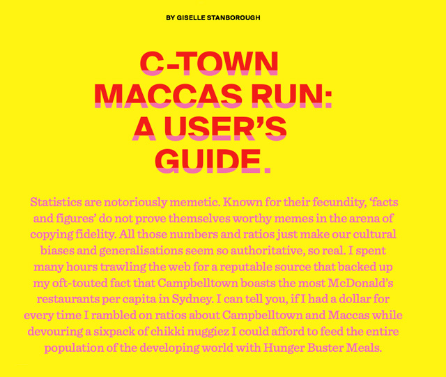 C-Town Maccas Run: A User's Guide by Giselle Stanborough
