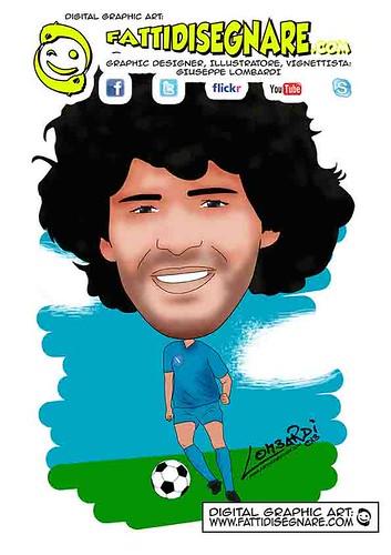 Maradona by Giuseppe Lombardi